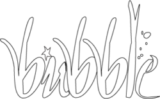 The Bubble homepage, with a logo image, large background image, and a number of buttons.